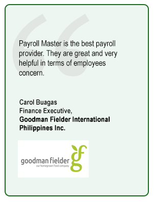 Carol Buagas Finance Executive,  Goodman Fielder International Philippines Inc.