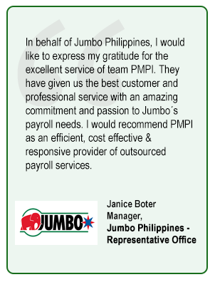 Janice Boter Manager,  Jumbo Philippines -  Representative Office
