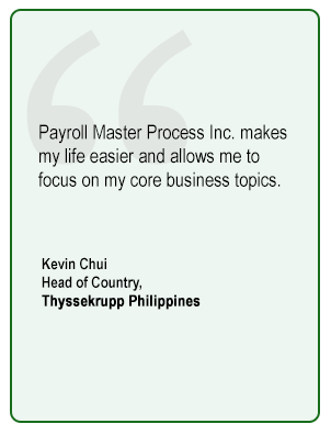 Testimonial from Thyssekrupp Philippines