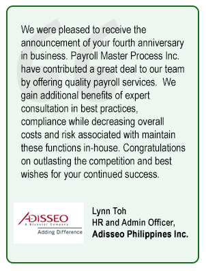 Lynn Toh HR and Admin Officer,  Adisseo Philippines Inc.