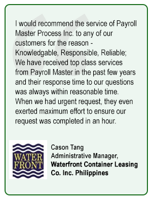 Cason Tang Administrative Manager,  Waterfront Container Leasing Co. Inc. Philippines